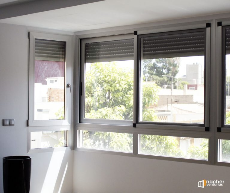 Balconera de aluminio con rotura – proyecto en Gandia – Valencia