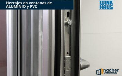 Herrajes en ventanas de ALUMINIO y PVC