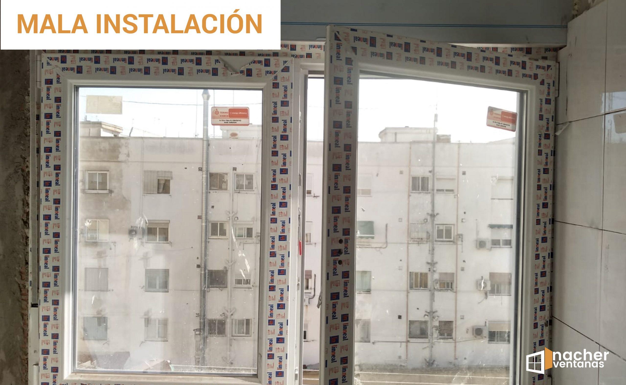 como no instalar una ventana error