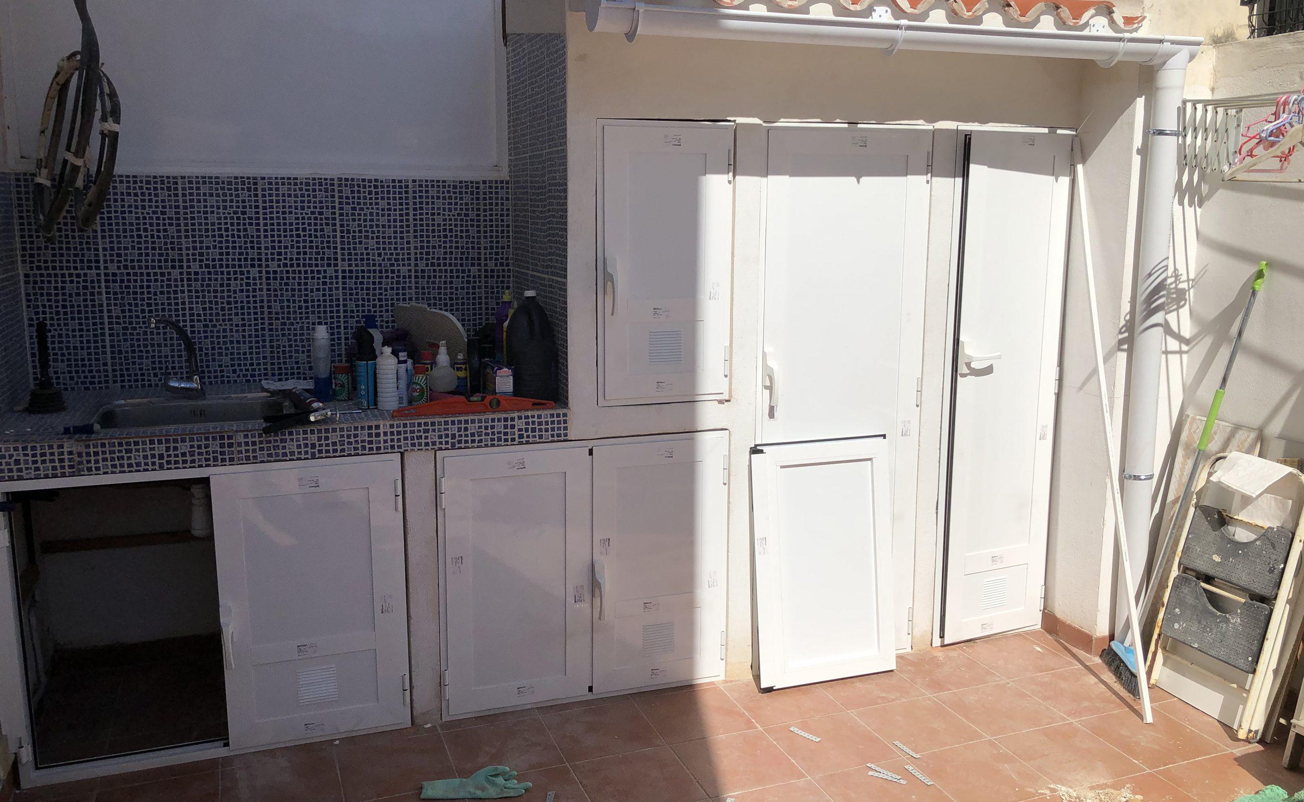 puertas de armario de aluminio