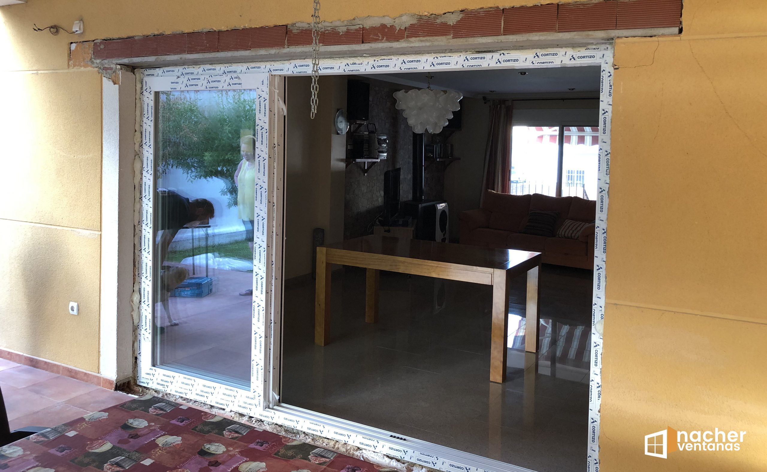 ventana tricarril pvc