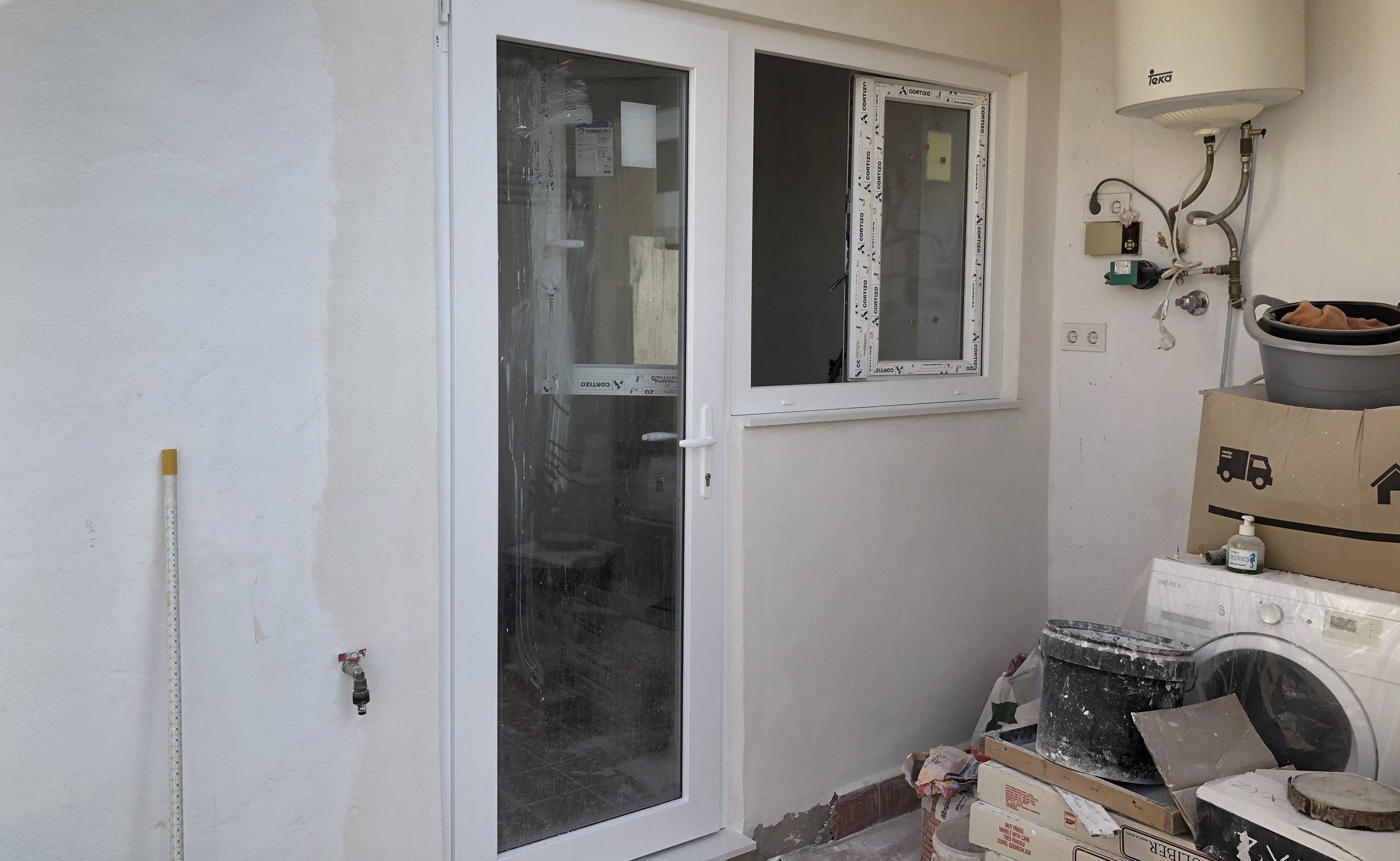 ventanas de pvc puerta galeria con umbral de 2 cm