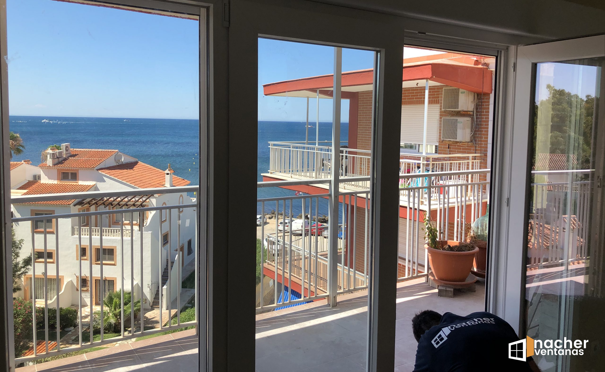 ventana pvc playa