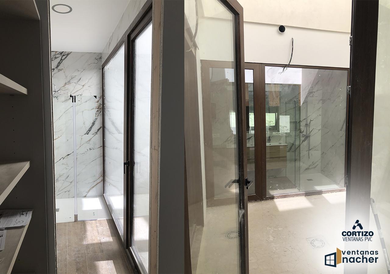 ventanas de pvc cerramiento jardin japones