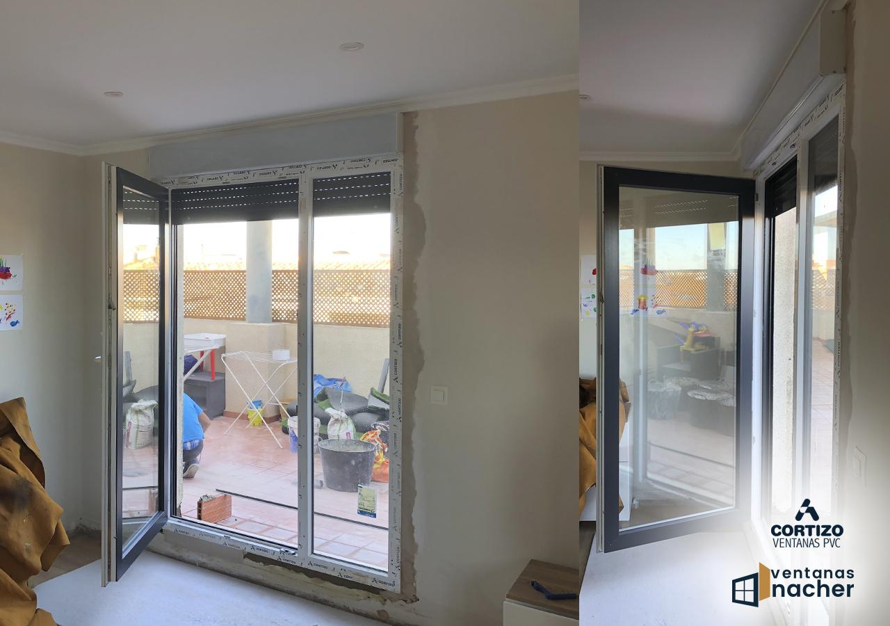 ventanas pvc bicolor blanco antracita balconera Valencia