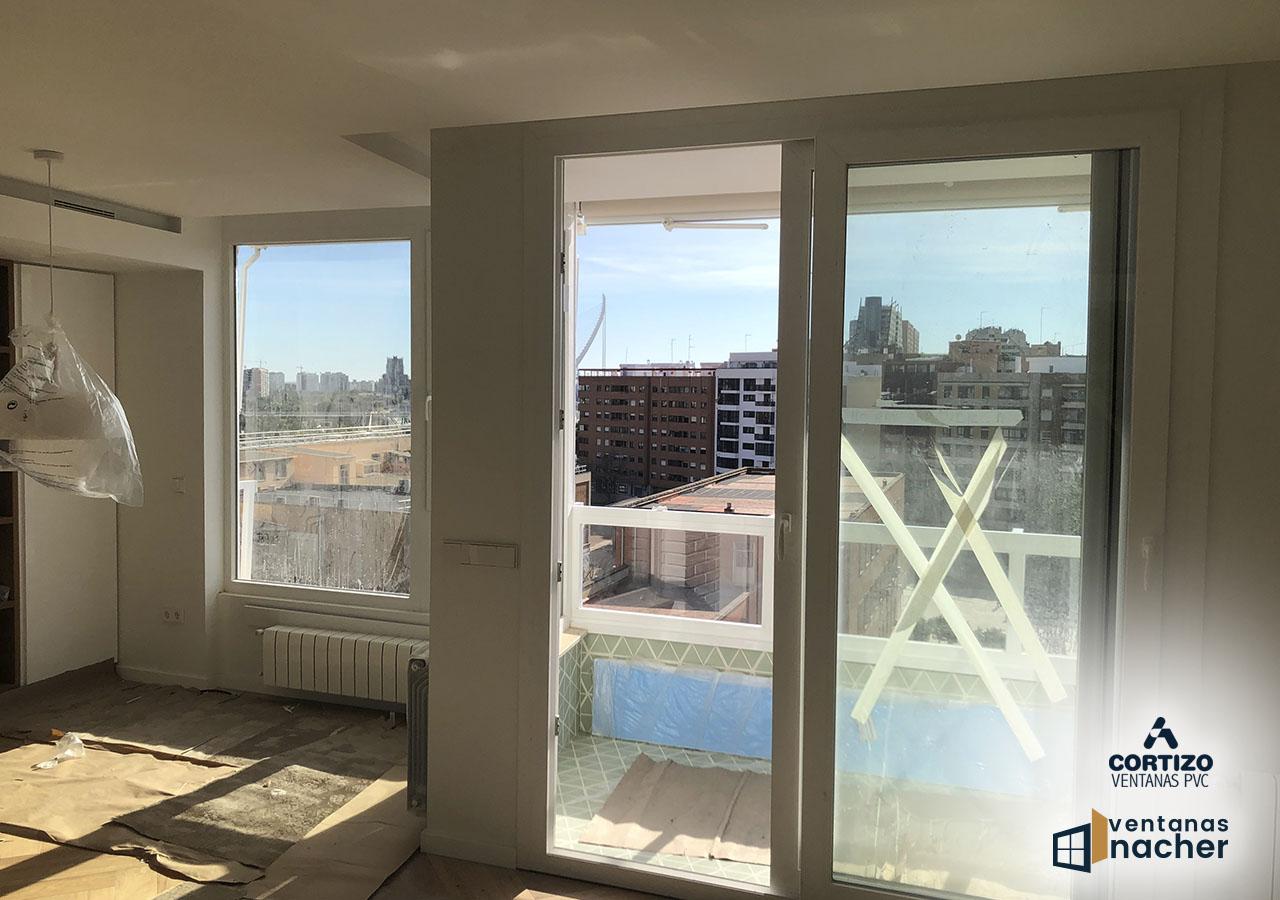 balconera y barandilla ventanas de pvc