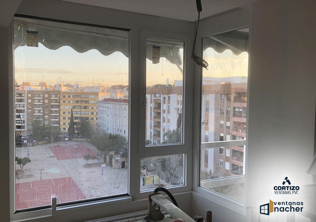 conjunto de ventanas pvc