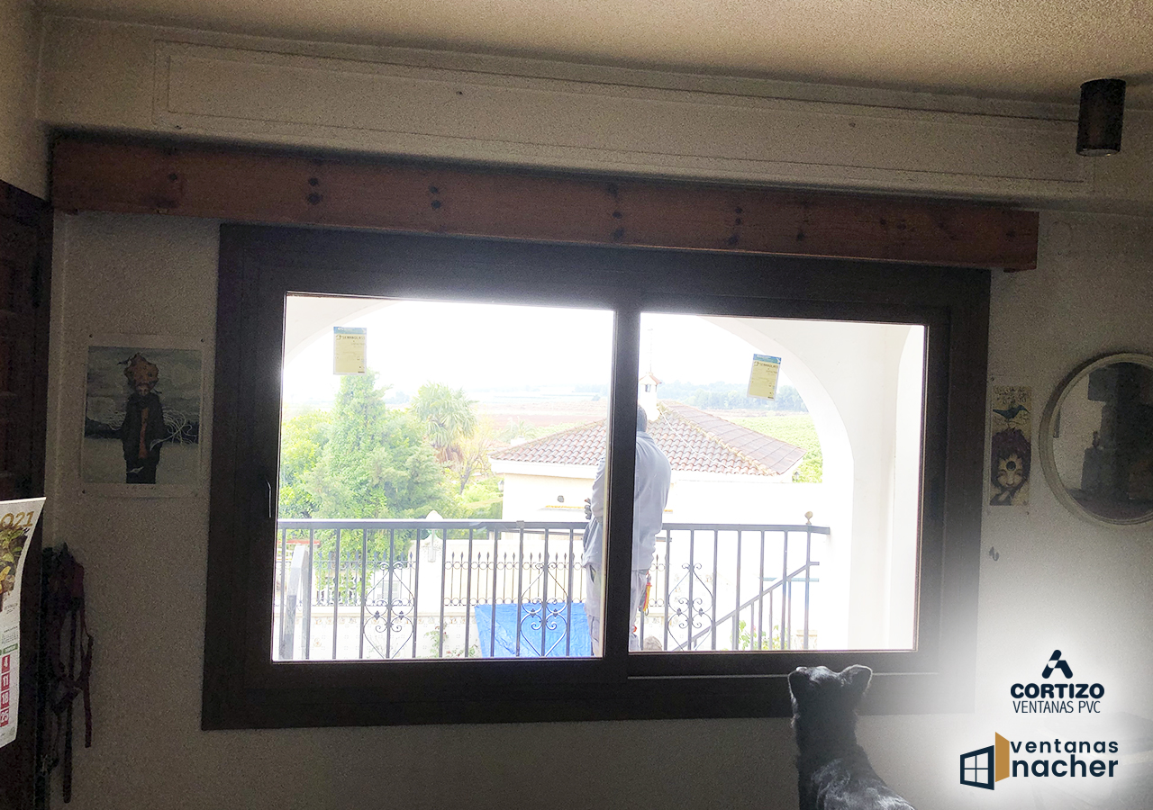 ventanas pvc solapadas