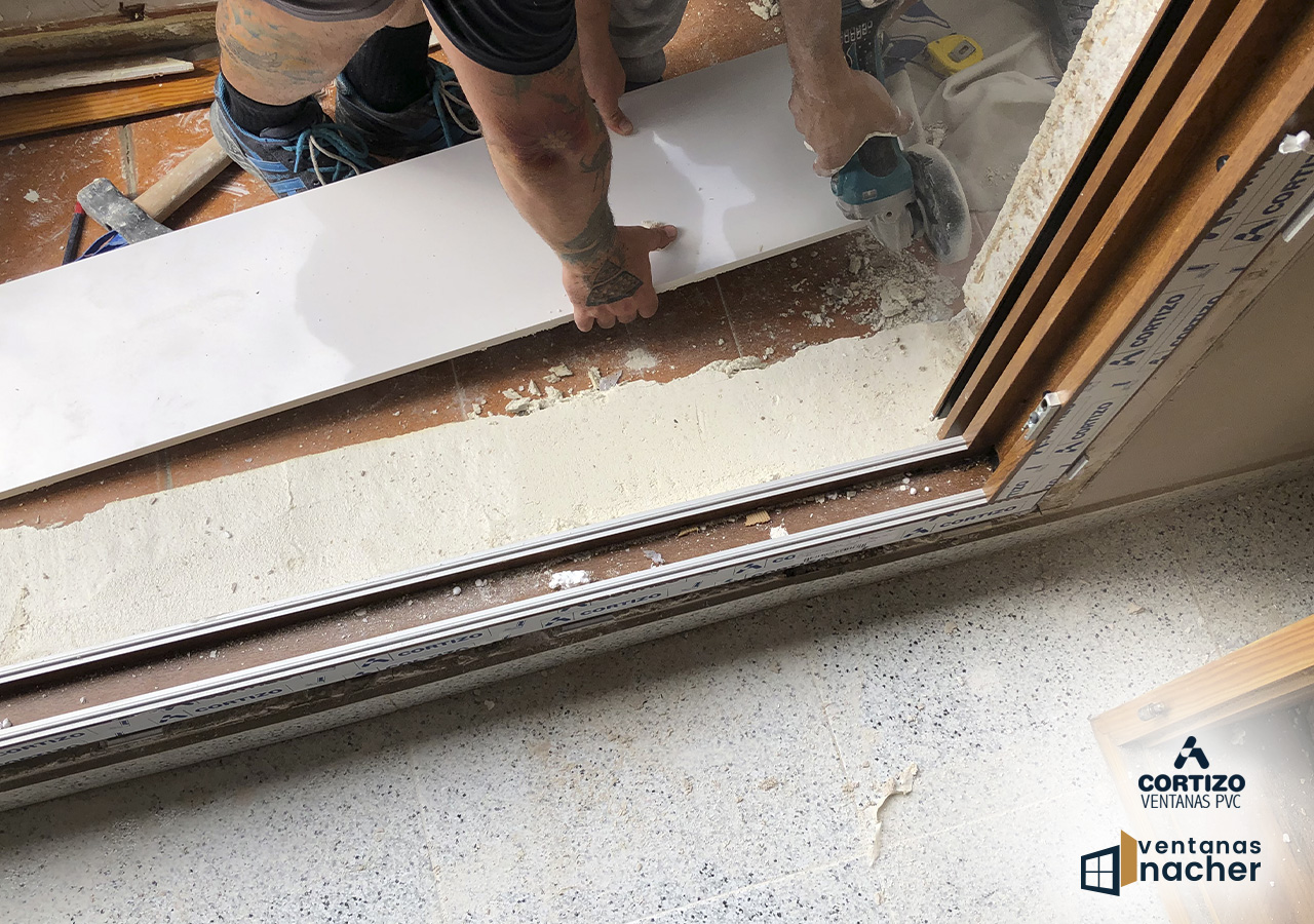 colocacion de vierte aguas en ventanas de pvc